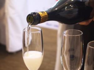 シャンパン開栓後